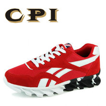 CPI 2018 Summer Male Lightweight Breathable Mesh shoes Men Casual sneakers Shoes New Comfortable Black red Men Flat Shoes ZY-03