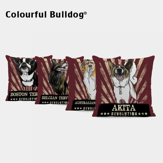 Us 375 20 Offcute Dog Pillow Cases Chihuahua Akita American Bulldog Cushion Covers Australian Shepherd Bernese Mountain Dog Bichon Home Decor In