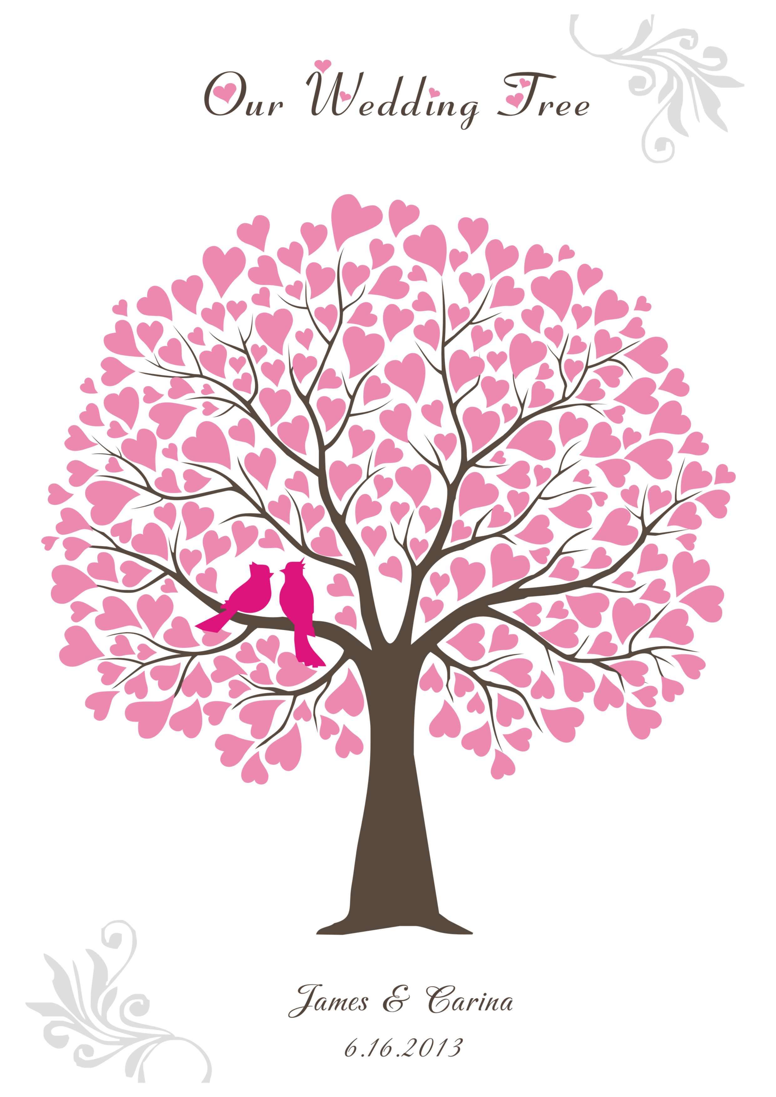 эти запускают шаблон свадебного дерева пожеланий наш