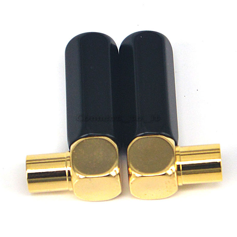 1PC 42MM  Brand New High Quality gray&gold CATV Adapter TV connector CATV TV Right Angle Male Connector For 9mm Cable