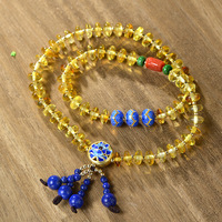 Pure Hand made String Beads Bracelet Amber Abacus Beads Fringed Bracelets Baking Blue Craft Accessories Direct