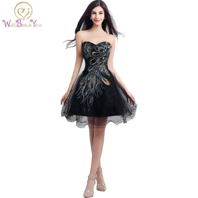 Vestidos Para Ocasiones especiales Vestido de Fiesta Negro de Encaje ...