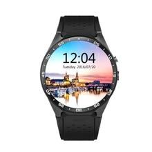MTK6580 KW88 Reloj Inteligente Android 5.1 OS CPU 1.39 Pulgadas de Pantalla 2.0MP Cámara 3G WIFI GPS Smartwatch Para Apple Android