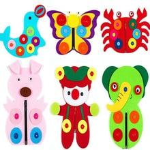 Brand New 7 Designs Animals Candy Clown Kids Early Leanring Felt Fabric Children handmade Nonwoven Decoration DIY Felt Fabric велосипед felt 7 eighty 2017