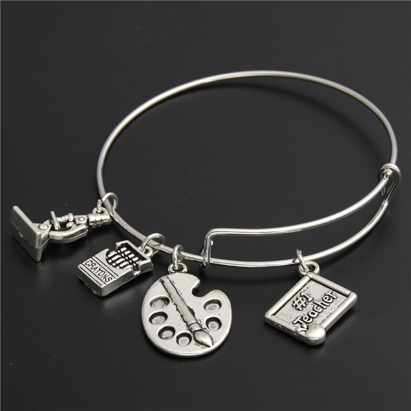 Teachers Gift 10 Ruler charms Tibetan Silver Charms Pendants