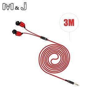 Image 1 - M & J 3M Kopfhörer Monitor Kopfhörer Mit Langen Draht 3,5mm Vergoldeten HiFi Stereo Universal Ohr Für iPhone 6S Xiaomi Computer