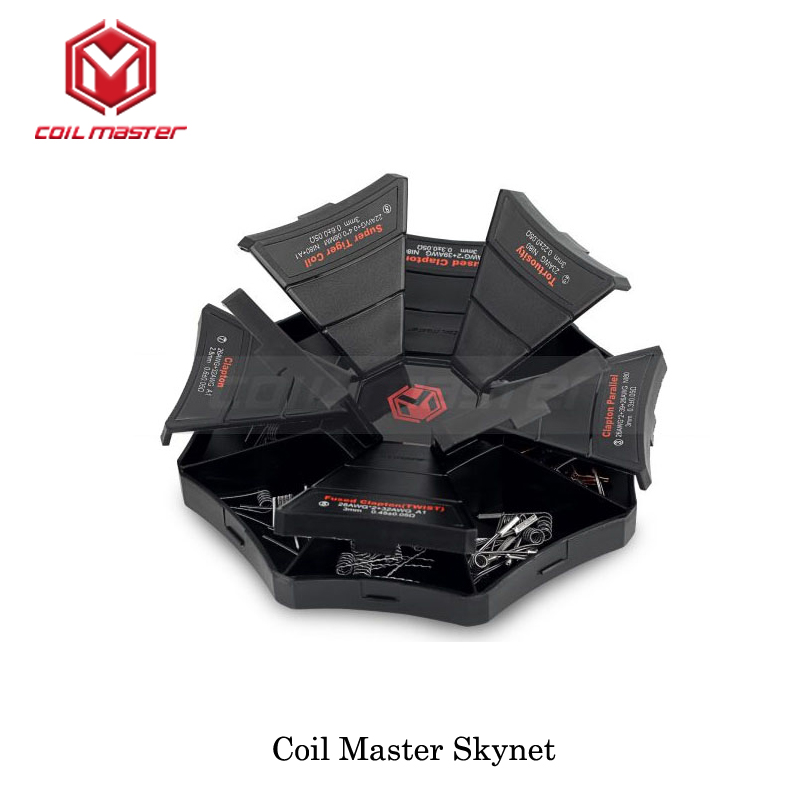 5pcs Coil Master Electronic Cigarettes Coils Kit CoilMaster Skynet coil case 8 different kind of advanced