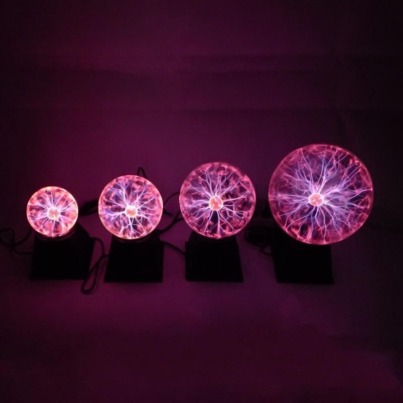 Plasma Ball Lamp Light Touching Sensitive Nebula Sphere Globe Novelty Toy 3/4/5/6/8 Inches TB Sale
