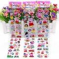 6pcs/lot 21cm Mixed Cartoon Bubble Pink Pig Family Stickers Action Figure Model Assembles Pink Pig Toy For Children TZ-001