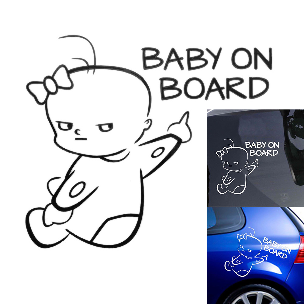 Hot Laptop  Bumper Decor Window Wall  Baby on Board Car Sticker Vinyl Decal