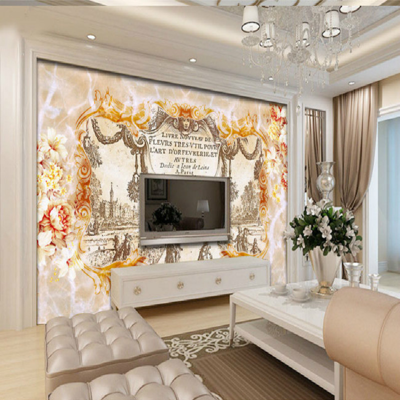 Continental retro vineyard marble backdrop paper large mural living room 3D wallpaper for bedroom marble vinyl wall paper зимняя шина continental contivikingcontact 6 225 55 r17 101t