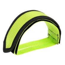 1pc Nylon kerékpáros pedál pántok Toe Clip Strap öv Adhesivel Kerékpár pedál szalag Fix gear Bike Kerékpározás Fixie Cover # 2A17 # H