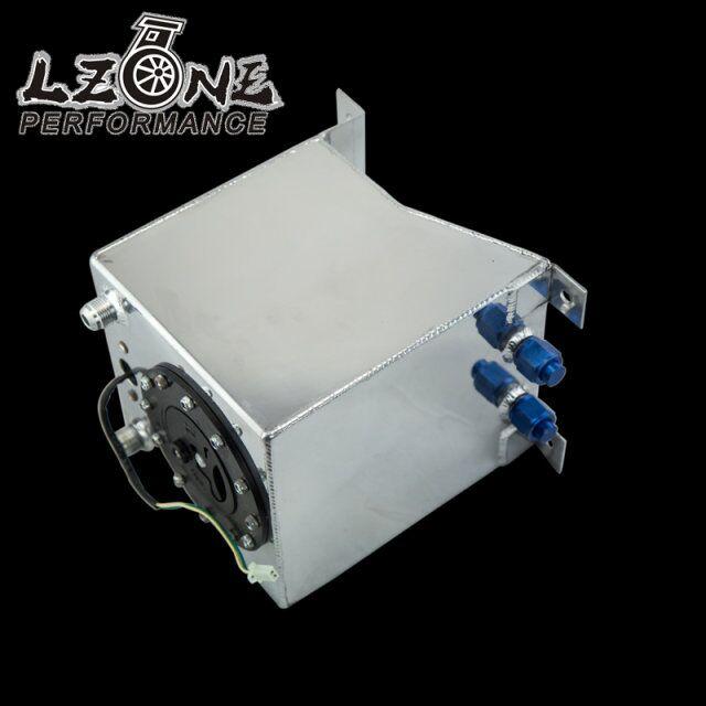 LZONE RACING - 10L Aluminium Fuel Surge tank mirror polish Fuel cell with foam inside/sensor JR-TK38S vr racing 60l aluminium fuel surge tank with sensor fuel cell 60l with cap foam inside vr tk41