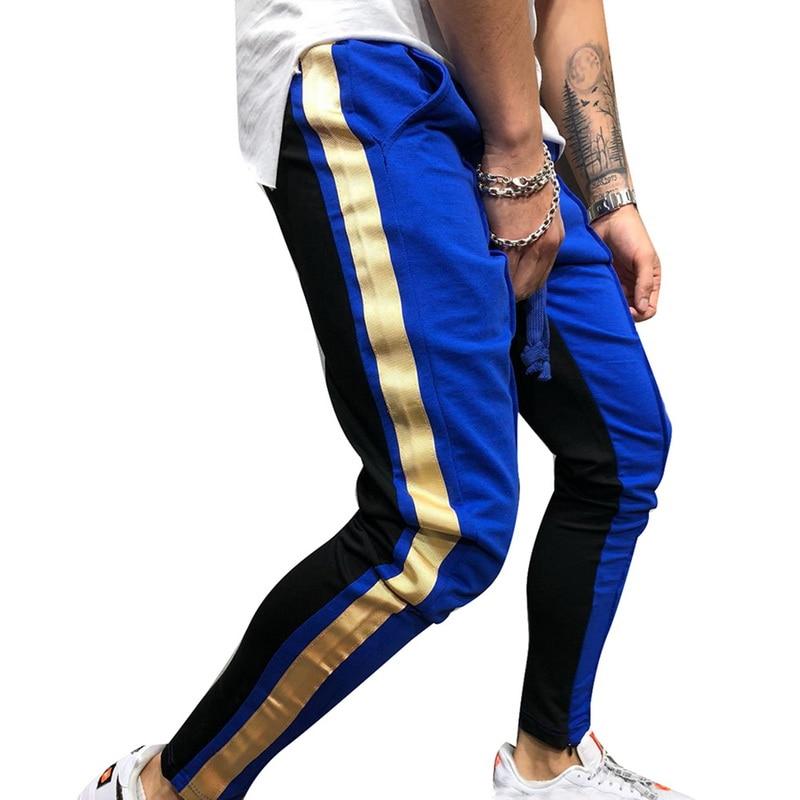 Luxury Brand Stripe Men's Joggers Hip Hop Solid Pants Men Pleated Drawstring Casual Trousers Hombre Slim Pencil Pantalon Homme