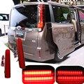 2X Red lente Auto LED Rear Bumper refletores de luz para Toyota NOAH / VOXY 80 Prius 40 cauda nevoeiro à noite correndo luzes de freio luz de travagem