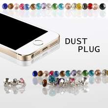 5 piece Universal 3.5mm Diamond Dust Plug Mobile Phone accessories gadgets Earph