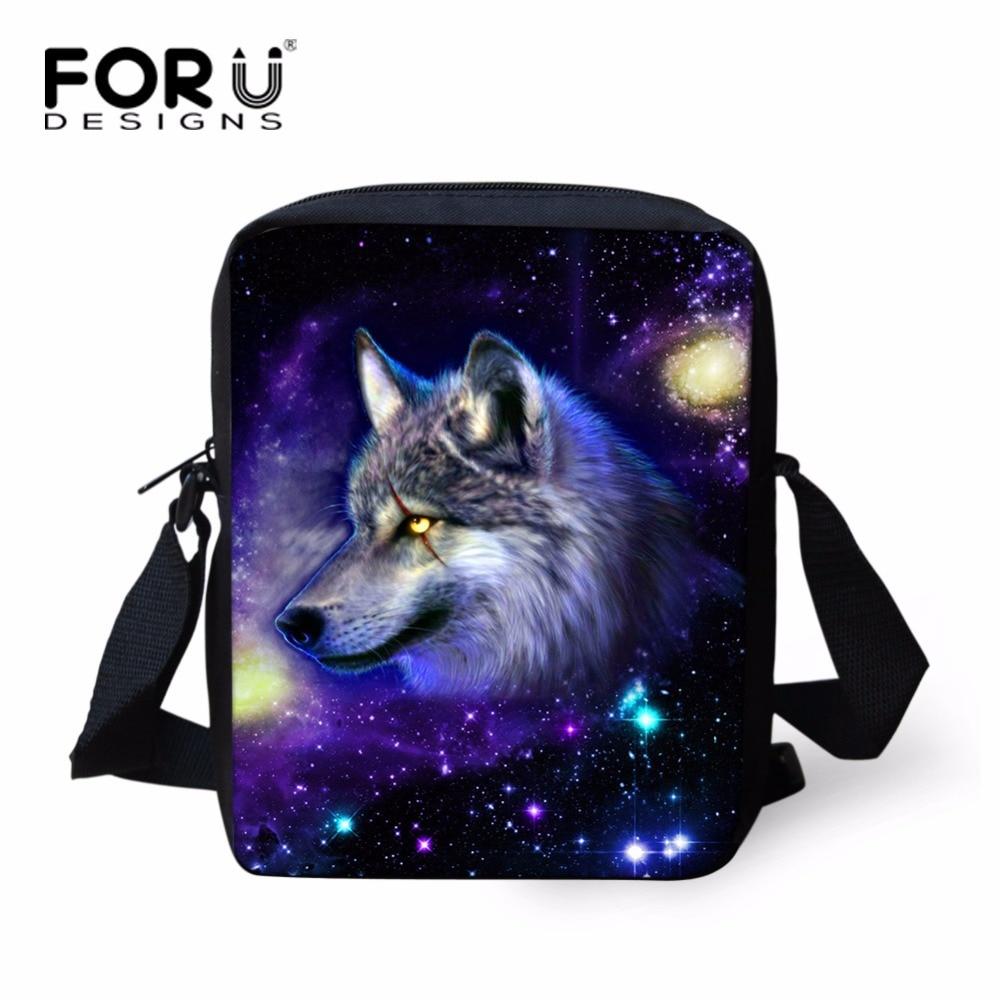FORUDESIGNS Cool 3D Animal Wolf Bear School Bag for Little Boys Personalized Mini Junior Kindergarten Kids Schoolbag Bookbags