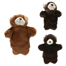 Lovely Animal Plush Hand Puppets Childhood Soft Toy Bear Shape Story Pretend Baby Kids Developmental Plush Doll Toy Puppets