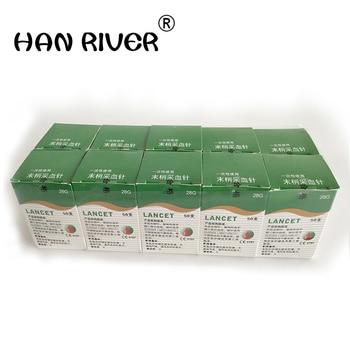 500 (10 caixas) agulhas massagem vara uso de caneta descartável estéril lancetas lanceta lanceta de sangue de drenagem de ventilação dedicado 28g