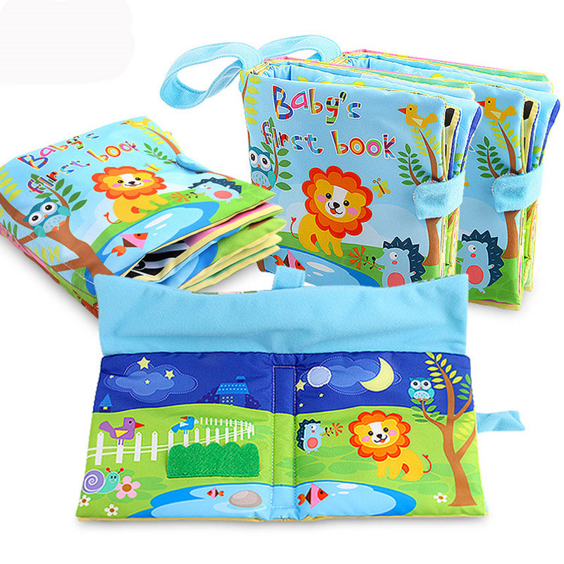 Animal Cloth Book Infant Early Childhood Three Dimensional Animal Cognitive Book Tearing Not Bad Cloth Book Baby Toy