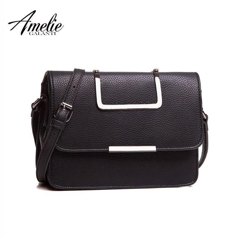 AMELIE GALANTI Модные женские сумки металлические ручки Курьерские сумки высокого качества Жесткий небольшой лоскут