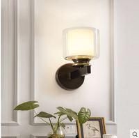 Nordic lâmpada de parede quarto cabeceira designer personalidade sala estar corredor lâmpada de parede moderno e minimalista criativo lâmpada de parede