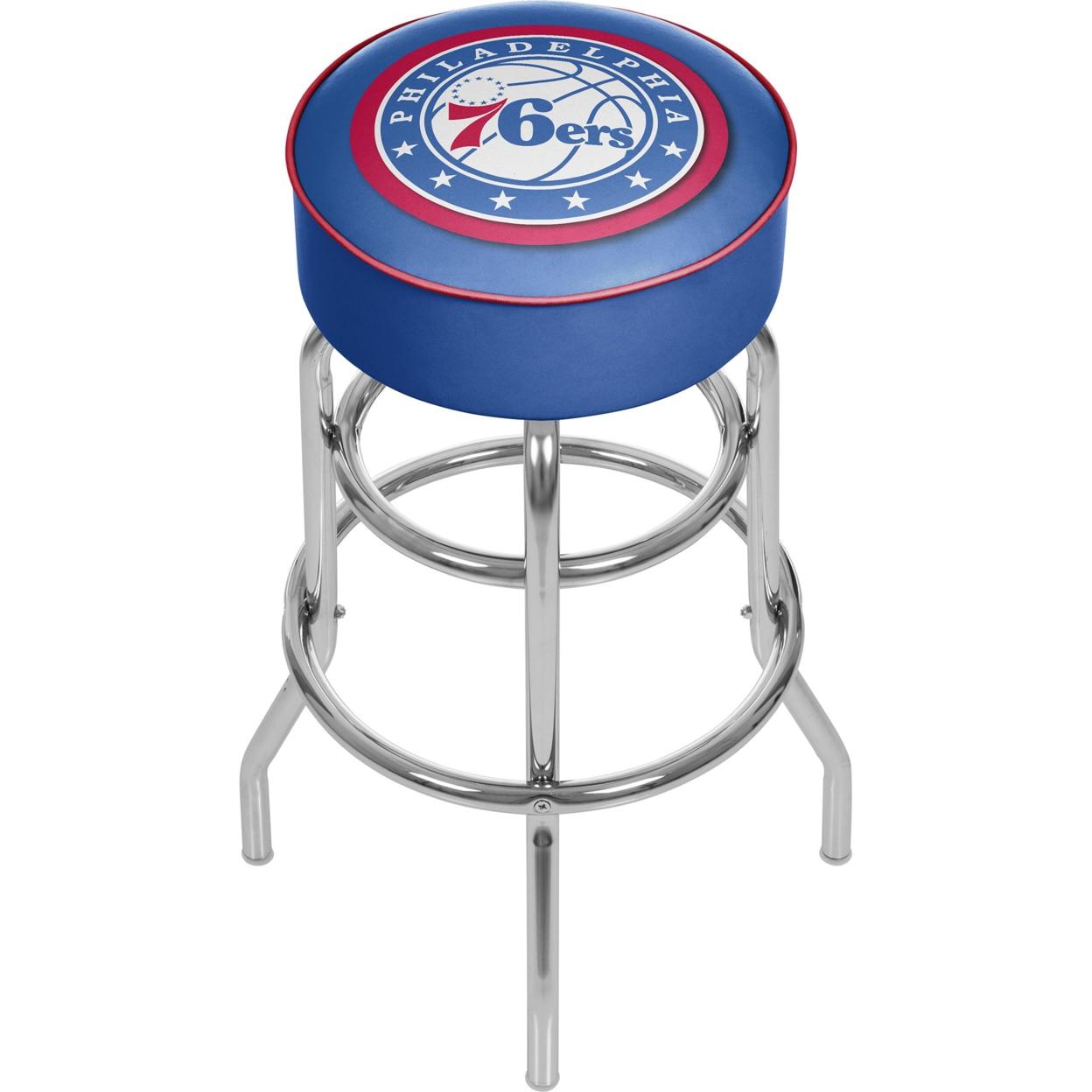 Philadelphia 76ers NBA Padded Swivel Bar Stool 30 Inches High philadelphia 76ers new era nba wide point throwback cuffed knit hat