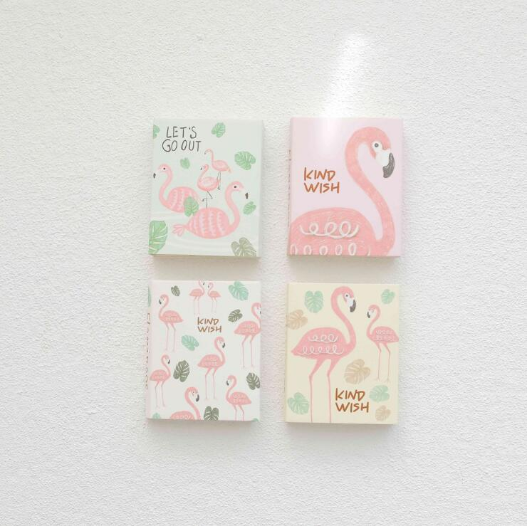 Flamingo Wish 4 Folding Memo Pad N Times Sticky Notes Memo Notepad Bookmark Gift Stationery gift n home
