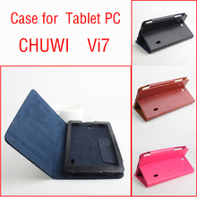 Business Style Utra Thin Folding Stand Flip Leather Cover Case for Chuwi Vi7 Tablet PC 7