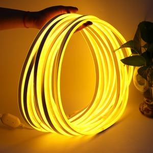 Image 4 - Led Streifen Licht 220V SMD2835 120Led/m Wasserdichte Flexible Fee Licht Outdoor Home Weihnachten Festival Dekoration Beleuchtung Streifen