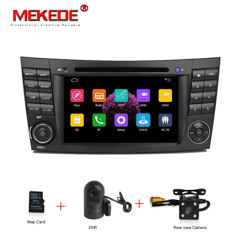 Two Din 7 Inch Car DVD Player For Mercedes Benz E Class W211 E300 CLK W209