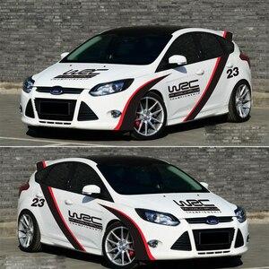 Pegatinas de estilo de coche para puerta de coche, pegatinas de vinilo con cambio de Color de flota para VW Mazda Audi Honda Ford calcomanía de carreras