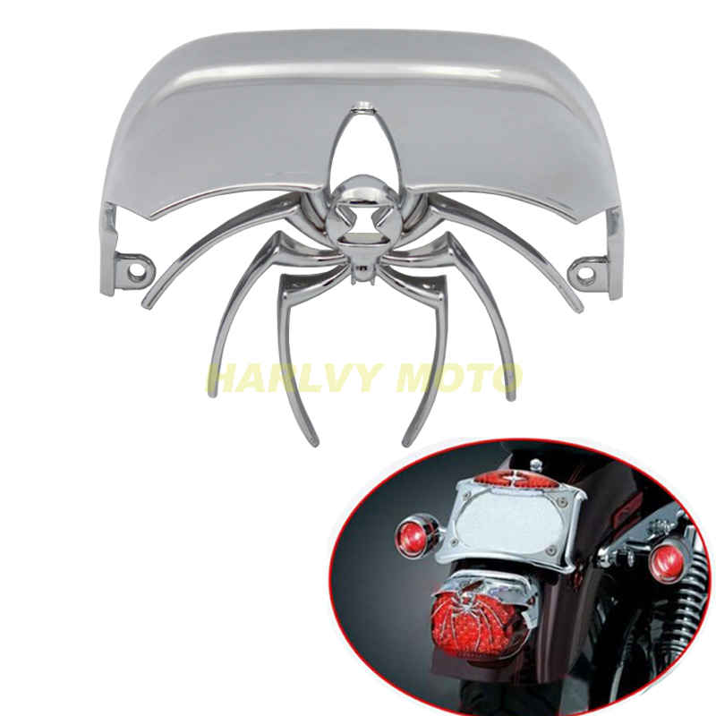 Amiable Chrome Motorcycle Light Spider Rear Tail Light Cover Fit For Harley Low Rider Fxdl Classic Flhtc Tail Lights Decoration Frames & Fittings