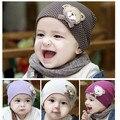 WENDYWU Encantador Lindo Bebé niños Gorros Sombrero Del bebé cap para niños chicas color sólido tapa fría sombrero de espesor bebé de bolsillo súper suave sombrero