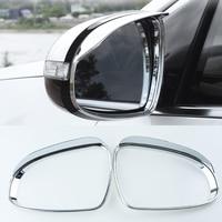 For KIA Sportage 4 QL KX5 2016/17/18 Car Styling Accessories ABS Rearview Mirror Rain Eyebrow Covers Chrome Trim