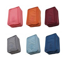 Convenient Travel Cosmetic Storage Bag Nylon 6 Colors Portable Makeup Tools Organizer Bags Sorting Pouch Multifunction