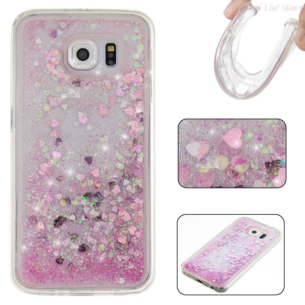 Dynamic Liquid Glitter Paillette Sand Quicksand Water Cover Soft TPU Case For Samsung Galaxy S5 S6 S6edge S7 S7 Edge