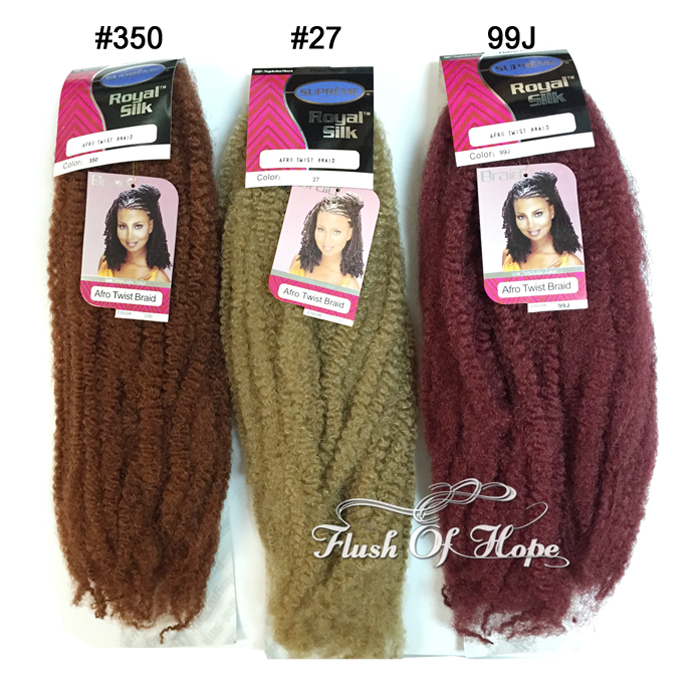 2 Pcslot Supreme Afro Kinky Twist Braid Curly Synthetic Hair Bulk