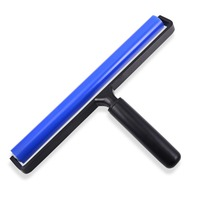 EHDIS 12 Inch Cleaning Silicone Handle Rollers Window Tint Tools Vinyl Car Film Wrap Tool Car Foil Squeegee Water Wiper Scraper