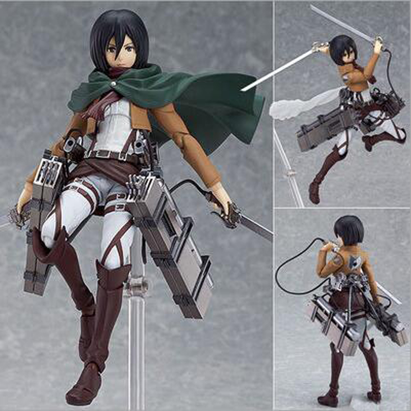 Attack On Titan Figure 3 Designs Japan Soldier Doll 213 Boxed 203 207 PVC Action Figure Model Collection Toy 6