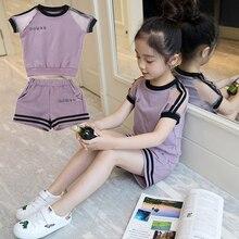 Girls set 2019 Summer Suit 4 New 5 Children Dress 6 Girls 7 Fashionable 8 Gas 9 Clothes