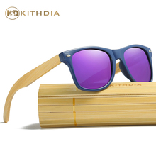 Kithdia Blue Frame Sunglasses Polarized  Handmade Wooden Legs and Support Drop Shipping / Provide Pictures #KD047