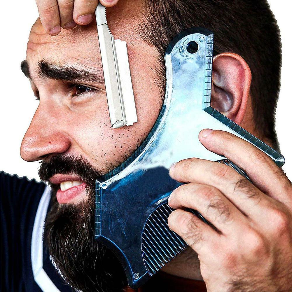 2019 Multiple Styles Styling Tools Comb Beard Shaping Tool Styling Template Beard Comb Men Shaving Tools Gentleman Beard Molding