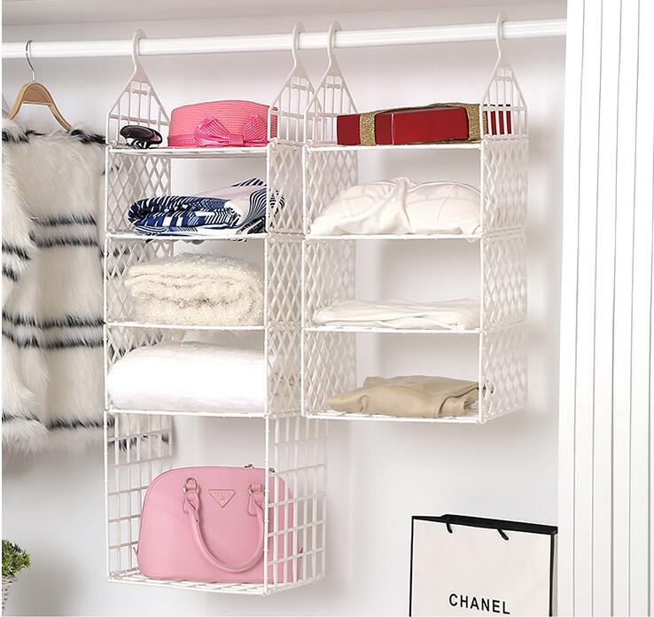 Dortoir finition portant des vêtements recevoir sac suspendu poche de rangement placard suspendu rack