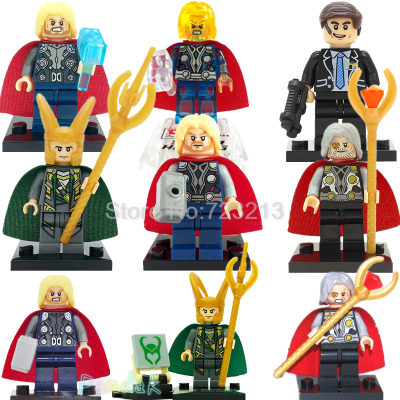 Thor Figure Marvel Loki Odin Super Hero Single sale The Avengers Building Blocks Model Bricks Toys XH004 XH060 motorcycle cnc front brake reservoir fluid cap cover for kawasaki z250 z750r 11 15 z1000 10 15 gtr1400 07 15