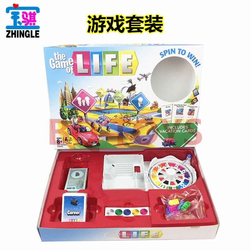 Le jeu de la vie Tour de vie grande platine vinyle avec carte anglais Life Trip Monopoly jeu de société