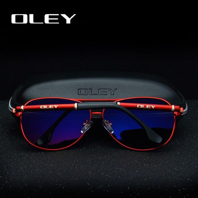 OLEY-lunettes de soleil polarisées pour hommes | Classique, lunettes UV400 de conduite à la mode pour femmes avec emballage de luxe complet boîte Y7005