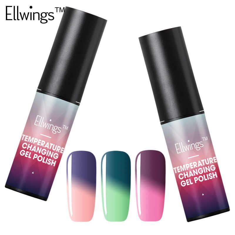 צבעים חמים Ellwings 1 יחידות טמפרטורת שינוי צבע קל תרמית ג 'ל מסמר ג' ל לק לעשות סגנון שלך לכה