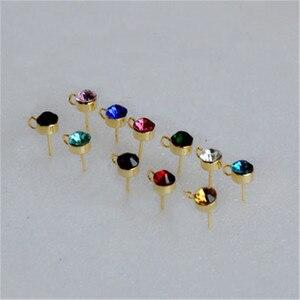 10pcs Crystal Rhinestone Earri