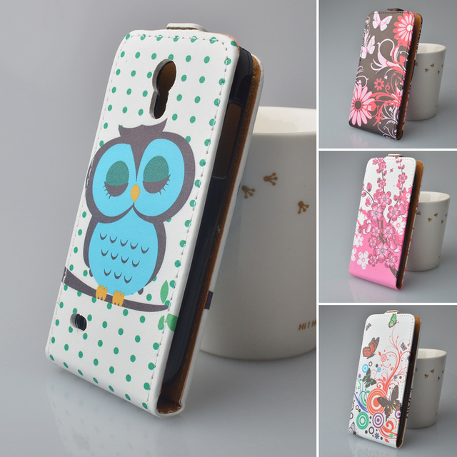 Leather case for Samsung Galaxy S4 Mini i9190 i9192 GT-i9190 GT-i9192 phone case for Samsung i 9190 / 9192 flip cover phone bags